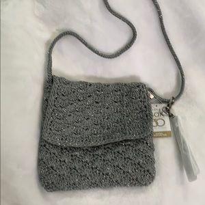 The Sak Costa Mesa Crochet Crossbody, Silver